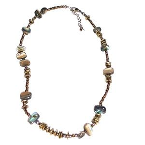 Silpada 925 Sterling Silver Abalone Necklace